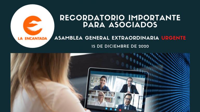 RECORDATORIO PARA ASOCIADOS
